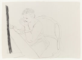 David Hockney, 'Celia - Adjusting her Eyelash', 1979