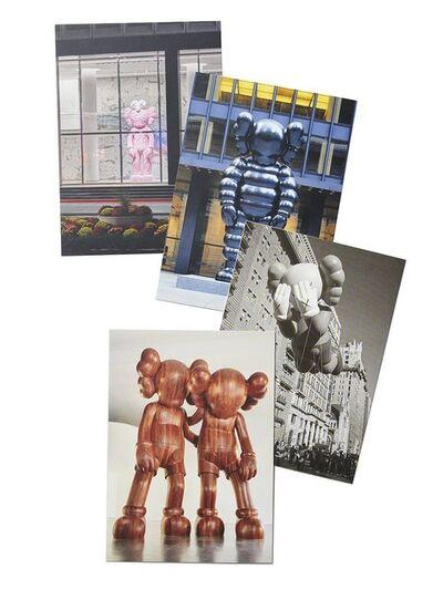KAWS, 'Brooklyn Museum - Monumental Sculptures Postcard (Set of 4), 2021', 2021