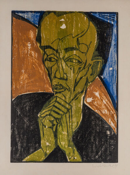 Erich Heckel, 'MÄNNERBILDNIS', 1919