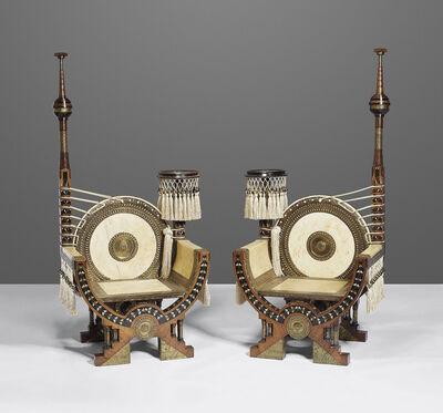 Carlo Bugatti, 'A pair of thrones', circa 1900