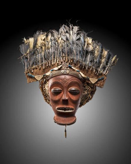 Unknown Chokwe, 'Cihongo mask with feather headdress', 1850-1900