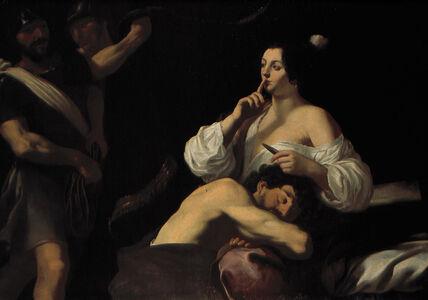 Claude Mellan, 'Samson and Delilah ', Late 1620s