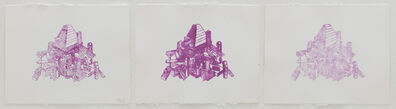 Teppei Kaneuji, 'Games, Dance and the Constructions (Blur) #1 (triptych)', 2014