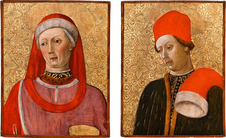 Bonifacio Bembo, 'Saint Cosmas and Saint Damian', 1454-1458