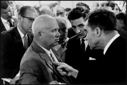 Elliott Erwitt, 'Nikita Khrushchev and Richard Nixon. Moscow, Russia. ', 1959