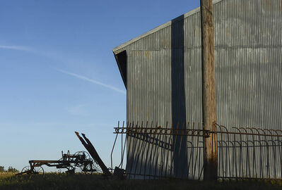 Joel Morgovsky, 'Metal Barn and Pole, Hiawatha, KS'