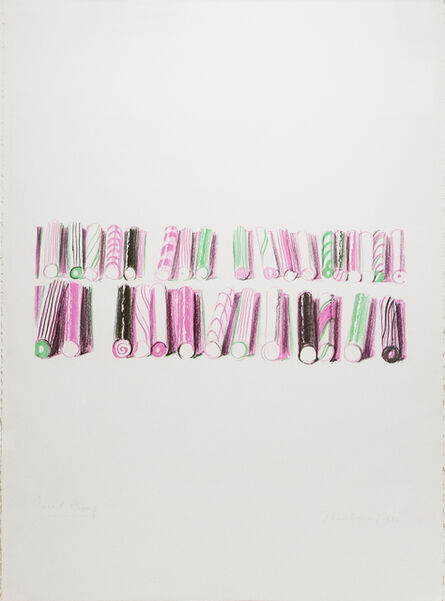 Wayne Thiebaud, 'Candy Stick Rows', 1980