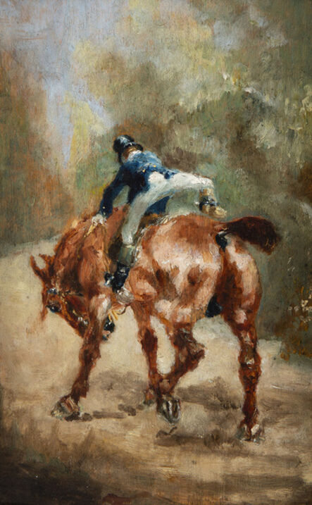 Henri de Toulouse-Lautrec, 'Cavalier vu de dos', 1880