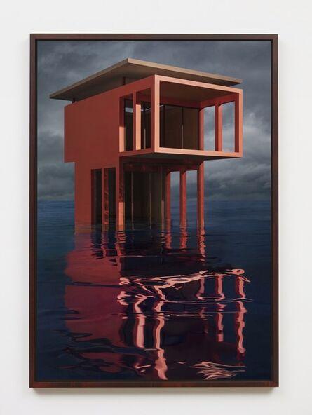 James Casebere, 'Red/Orange Solo Pavilion', 2018