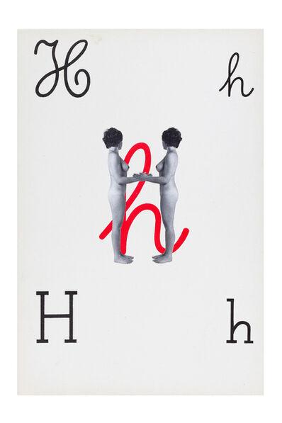 Tomaso Binga, 'Alfabetiere pop, H', 1976