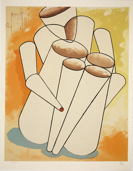 Man Ray, 'Personage from An American Portrait, Volume II: Not Songs of Loyalty Alone', 1975