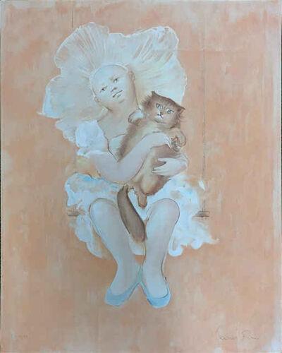 Leonor Fini, 'Unknown (Girl with Cat)', 1970