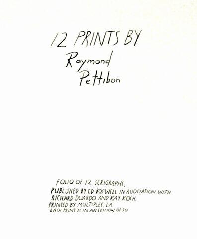 "Raymond Pettibon, '""TWELVE PRINTS BY RAMOND PETTIBON', 1990"