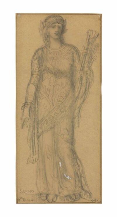 Gustave Moreau, 'Marie-Gabrielle Krauss as Sappho'