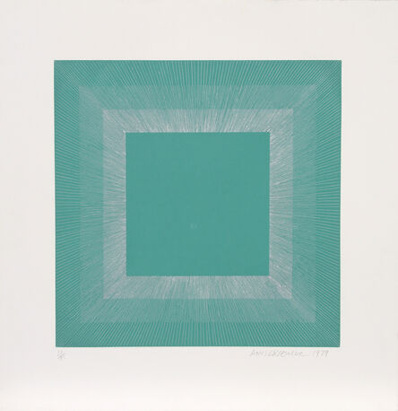 Richard Anuszkiewicz, 'Winter Suite (Green with Silver)', 1979