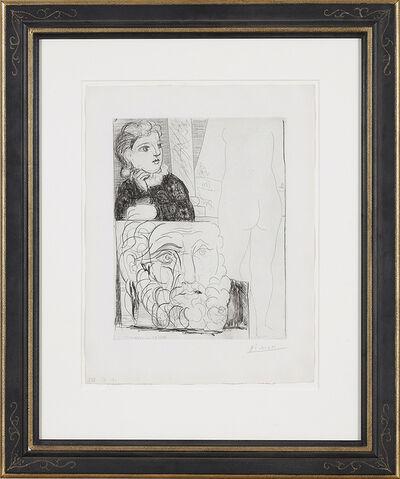 Pablo Picasso, 'Femme accoudée, Sculpture de Dos et Tête barbue', 1933