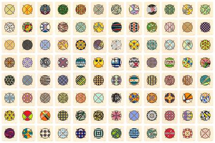 Jacob Hashimoto, 'The Hashimoto Index II (Portfolio of 96 Prints)', 2018