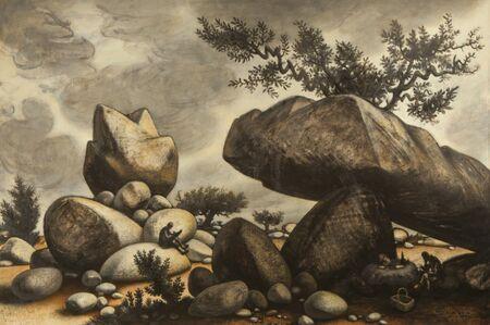 Peter Blume, 'Study for Boulders of Avila', 1971-1975