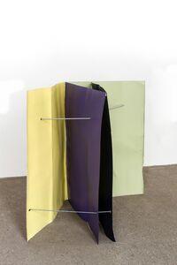 Michael Kienzer, 'Kobaltblau/Zinkgelb/Blaulila/Weißgrün (Flyer 4-teilig)', 2016-2018