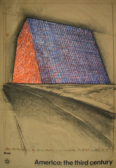 Christo, 'Wrapped Oil Barrels, Texas', 1976
