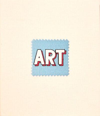 Elaine Reichek, 'Swatch, Lichtenstein (Blue)', 2006