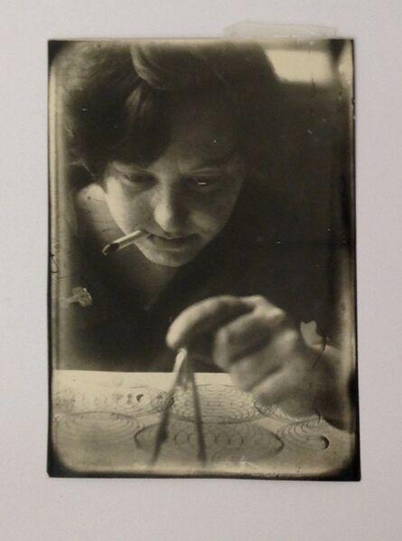 Alexander Rodchenko, 'Stepanova at work', 1924
