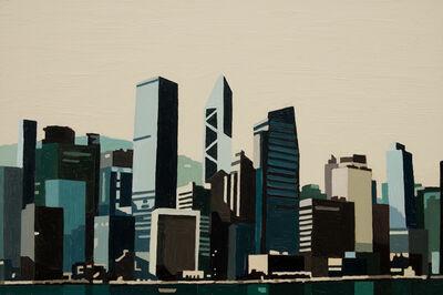 Andy Burgess, 'Hong Kong Waterfront (Blue/Green) I', 2016
