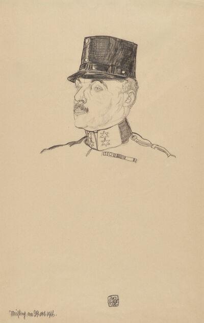 Egon Schiele, 'First Lieutenant Gustav Hermann', 1916