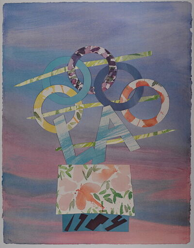 Billy Al Bengston, 'Los Angeles Olympic Games, 1984 - Hand signed offset lithograph', 1984