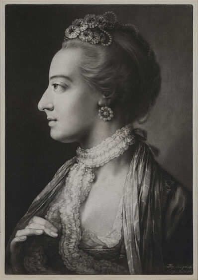 Thomas Frye, 'Fashionable Woman wearing a lace necklet.', 1761