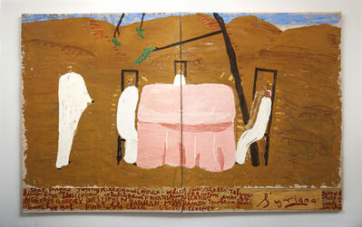 Rose Wylie, 'Pink Table Cloth (Close-up) (Film Notes)', 2013