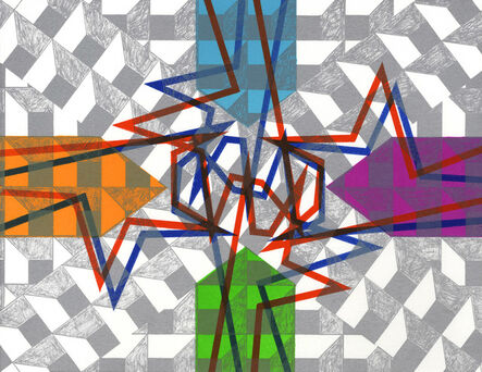 Bernard Cohen, 'Mirror x 6 (2)', 2008