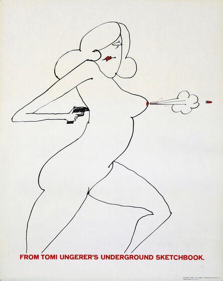 Tomi Ungerer, 'Tomi Ungerer 1960s Nude Gun Poster', 1965
