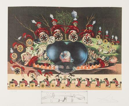 Salvador Dalí, 'Les Diners de Gala. Les Montres Molles demi Sommeil (Field 77-5.L)', 1975