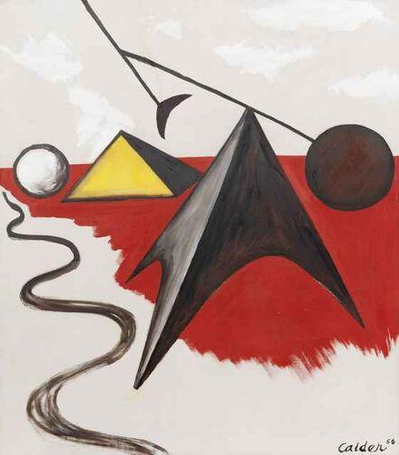Alexander Calder, 'Pyramidal Shapes', 1956