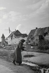 Tony Vaccaro, 'Woman back from the fields, Germany, 1948'