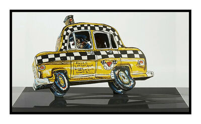 Red Grooms, 'Red Grooms Ruckus Taxi 3D Color Lithograph Signed Modern Sculpture Construction', 1982