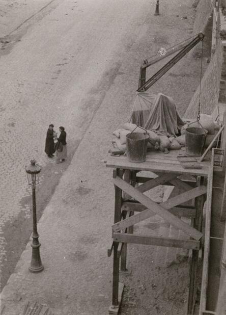 André Kertész, 'Dimanche (Sunday), Paris (Two Women Under Scaffold)', 1927c / 1927c