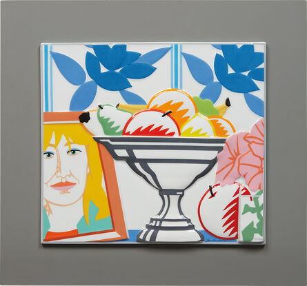 Tom Wesselmann, 'Still Life with Fruit, Petunias and Claire', 1988