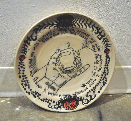 Heather Ossandon, 'Commemorative Plates of Shitty Things: The Break Ups-Chris 3', 2014