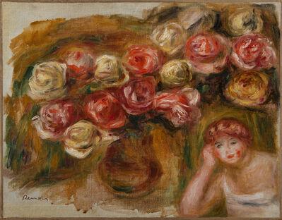 Pierre-Auguste Renoir, 'Etude de femme et de fleurs', ca. 1915