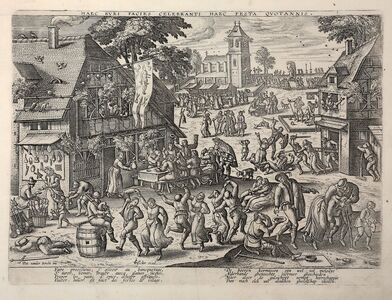 Peter van der Borcht, 'St Sebastian's fair', 1600