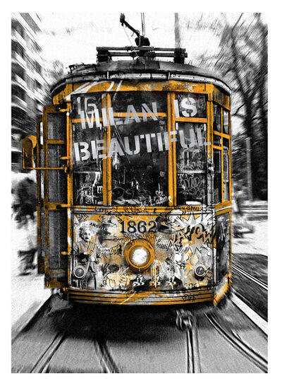 Mr. Brainwash, 'Milan is Beautiful - Tram Silver', 2019
