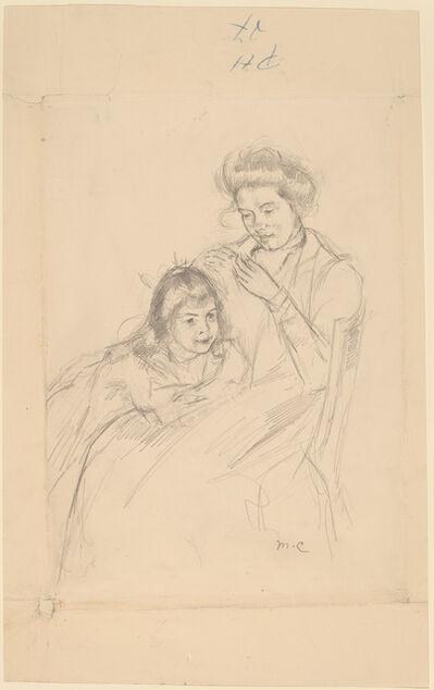 Mary Cassatt, 'Margot Leaning against Reine's Knee', ca. 1902