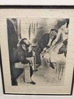 Edgar Degas, 'Seated Men and Dancer', 1880-1883