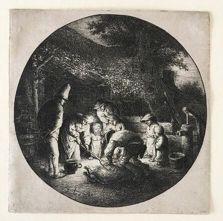 Adriaen van Ostade, 'The Pork Butcher', ca. 1642