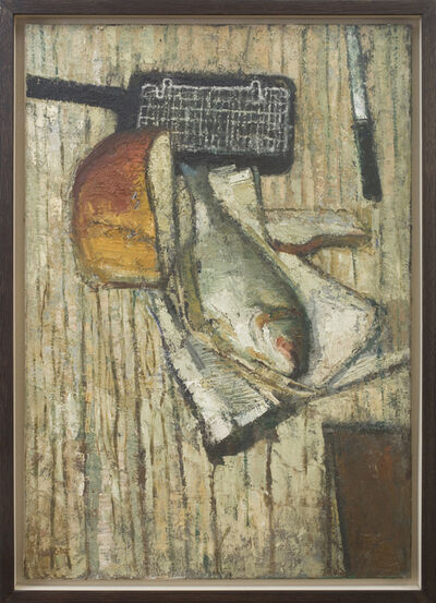 Peter Coker, 'Fish with Grill', 1954-55