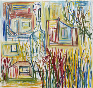 Ken Whisson, 'Suburban Landscape with Professor of Computerised Metaphysics', 17/8/18 to 4/9/18