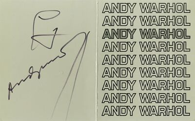 Andy Warhol, 'Andy Warhol at Pace/Columbus (Hand signed during official signing)', 1978