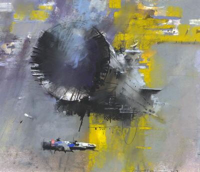 John Harris, 'Refit at Crux Sketch', 2017